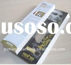 hair extension packaging box with window