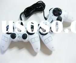 pc usb wired dual shock game joystick