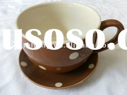 promotional ceramic coffe cup and saucer & tea cup set