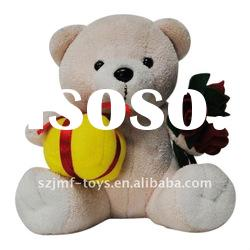 soft plush holiday gift toy bear animals for new year 2012