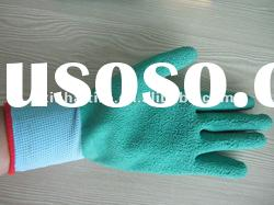 21's cotton liner cheap latex work gloves