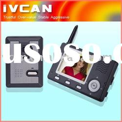 3.5 inch wireless video door phone,house intercom system,apartment intercom systems