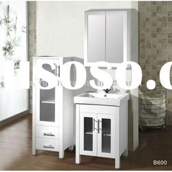 600x480 modern bathroom vanity combo with frosted glass door inserts in white gloss finish