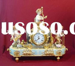 Antique ceramic table clock, home decoration clock, porcelain art,21inch height,MOQ:1PC(B15169)