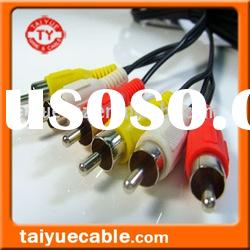Audio/Video cable,3 RCA*3RCA