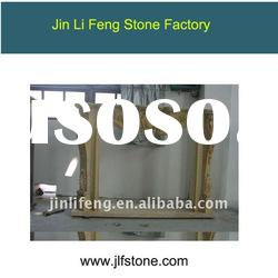 Beige stone decor flame electric fireplace
