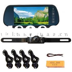 Car Kit Parking Sensor Camera System 7 inch Monitor Touch Screen