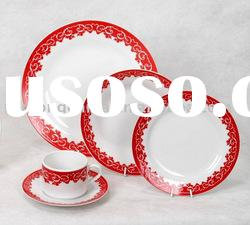 Ceramic dinnerware---20 PCS Porcelain Dinner set with decal