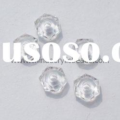 Faceted clear acrylic cheap beads, clear crystal beads