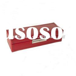 Fashion Red Leather Women's Fold-out Travel jewelry Case C01-417