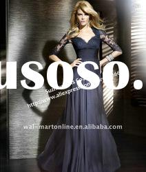 Free Shipping MD163 New arrival long sleeve chiffon Evening Dress