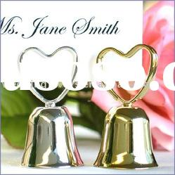 Heart Clip Bell Place Card Holder Favors