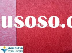 Hot sale embossed litchi grain pvc leather