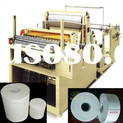 PLC High Speed Automatic Industrial Tissue Roll Machine