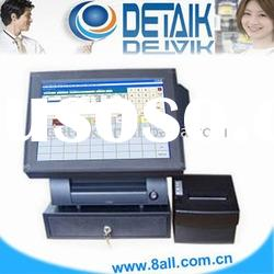 Restaurant 15 inch POS System Touch Screen Terminal / point of sale all in one programmable keyboard