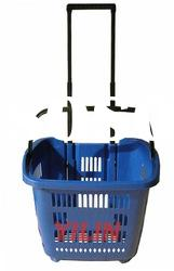 SBP04 plastic rolling shopping basket
