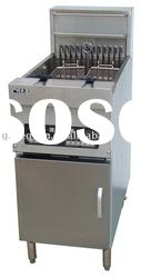 Stainless Steel Electric Deep Fryer with Mircro Computer(1 oil tank 2 baskets)
