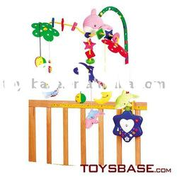Voice control baby bed music toy