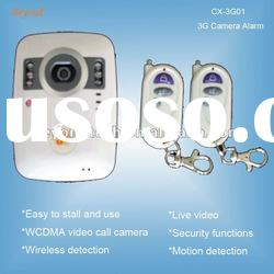 WCDMA 3G camera alarm with 2 way video call and alarm system
