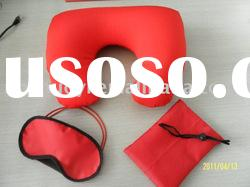 airline travel kit(set of 3 pcs, neck pillow gift bag,and the eye mask)