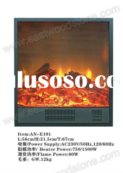 decor flame electric fireplace with marble fireplace