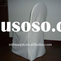 ivory polyester banquet chair cover