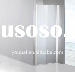 simple shower screen , USD45/set, with the bilateral pivot door,aluminum alloy backing profiles