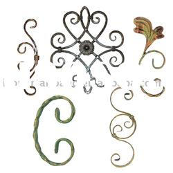 wrought iron scrolls,rosettes,forged panels