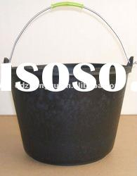 Recycled rubber bucket cement cement pail
