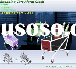 SK1055A shopping cart lcd alarm clock with pen holder