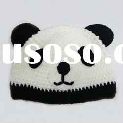 knit panda gloves kids hat scarf sets