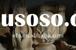 small exquisite carved round wood posts cap in EFS