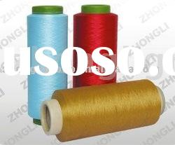 100% polyester yarn DTY dope dyed colors