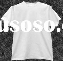 2012 popular 100%cotton fashion white plain men's t shirt