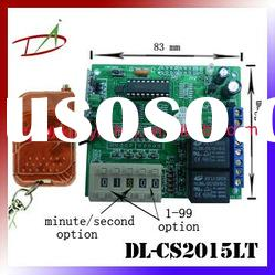 2 channel DC Wireless remote timer switch