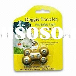 6 Rhinestone LED Flashing Pet Name/ID Tag