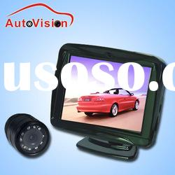 "9 Infrared Night Vision Waterproof CCD car black box camera with 3.5"" mirror monitor(CL-350-C)"