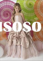 Breathable Fashion Elegance Comfortable Kindly Lovely Taffeta Kids Gown MY566
