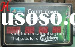 Carlsberg LED red Clock Countdown Timer showing 9 digits number with CE