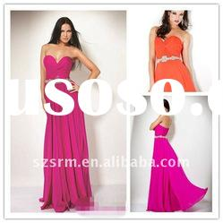 Custom Made Traditional Indian Strapless Beaded Real Evening Dresses
