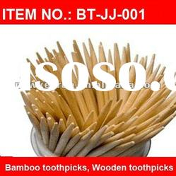 Hot-Selling Disposable Natural Wooden Bamboo Toothpick In 40-500PCS Tube/Bottle