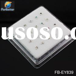 Jewelry, Hot Selling Fashion 925 silver diamond cross nose studs . FB-EY839