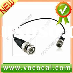 New Male Camera CCTV BNC Adapter Connector to Coaxial Cable