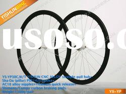 Newest model! 38mm clincher Powerway alloy straight pull hubs bicycle carbon wheel