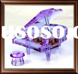 Purple crystal piano which can plays tone