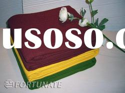 Solid color Cotton and bamboo blend woven blanket throw home textiles bedding