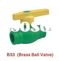 Top quality ppr brass ball valve of valves and fittings