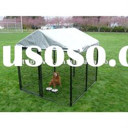 Wire welded dog cage with cover/heavy duty dog cage