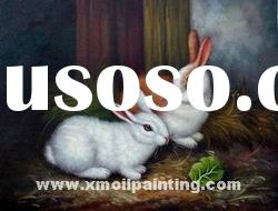 abstract animal oil painting(rabbit)
