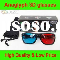 anaglyph 3D glasses with red/blue cyan lens, with gift box packing